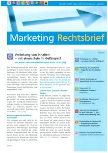 Marketing Rechtsbrief