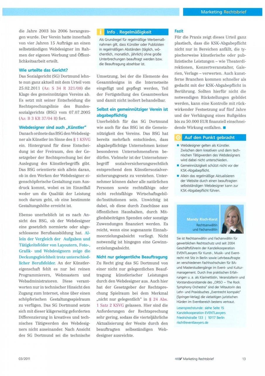 Rechtsbrief Marketing 03/11
